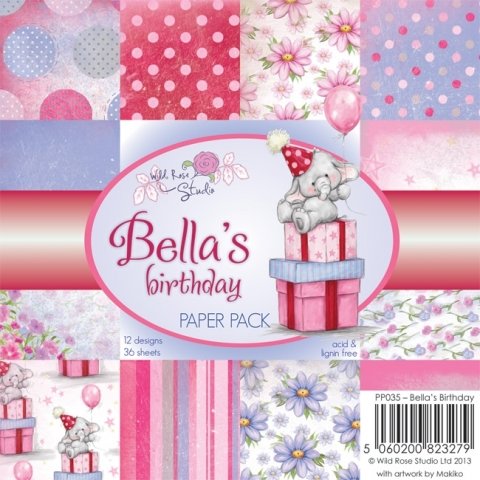 Wild Rose Studio 6 x 6 Paper Pack 36 sheets Scattered Confetti PP048
