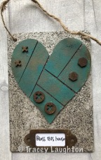 Heart Scene Pop-em Tracey Patina Granite