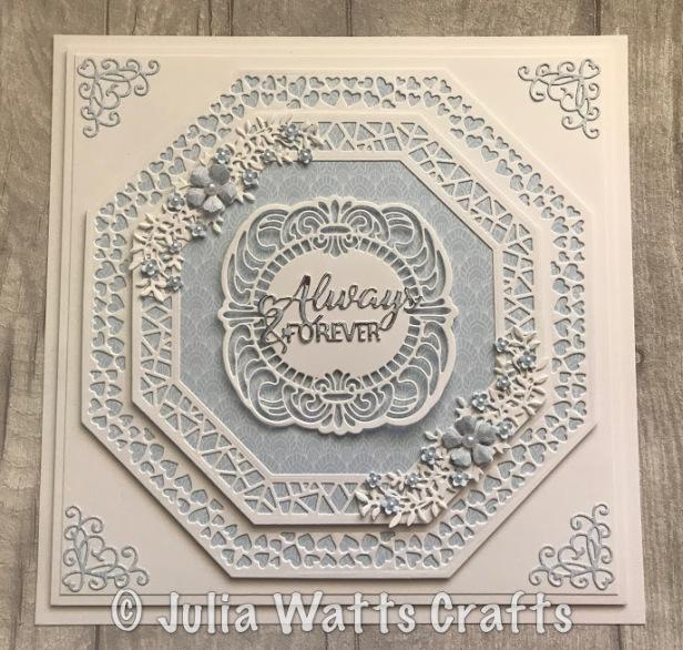 Lavish Accented Octagon Wedding Card
