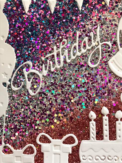 Birthday Frame Holographic Glitterbitz