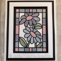 Painted Daisy Stained Glass Window