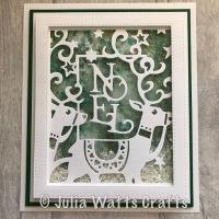 Noel Frame Shaker Card