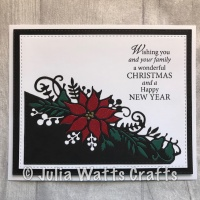 Paper Pieced Poinsettia Edger
