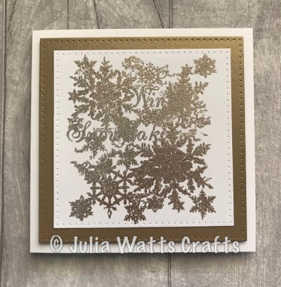 Snowflakes White Gold Brilliant Embossing Powder