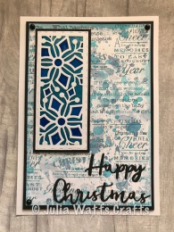 Stained Glass Stitched Snowflake Striplet