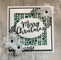 Stitched Snowflake Striplet Garland Edger