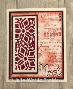 Stitched Snowflake Striplet Woodware Collage