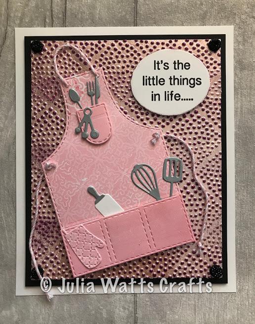Apron Pinpoint Embossing Folder Gel Plate