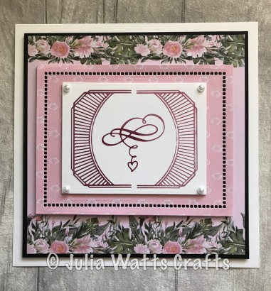 Heart Flourishes Place Card