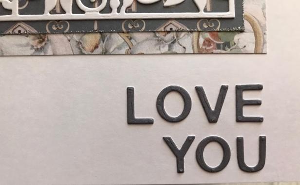 sentiment spellbinders flower box card