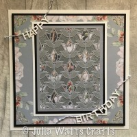 Paper Pieced Tulip Flower Frame
