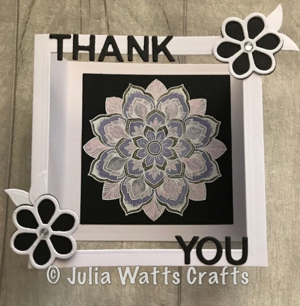 spellbinders flower box card mandala blossoms