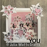 Spellbinders Flower Box Card