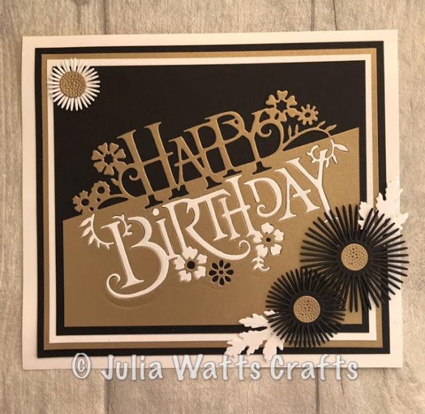 Paper Cuts Happy Birthday Gold & Black