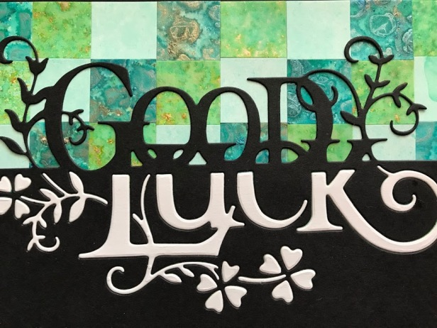 Good Luck Word Edger Bargello Background