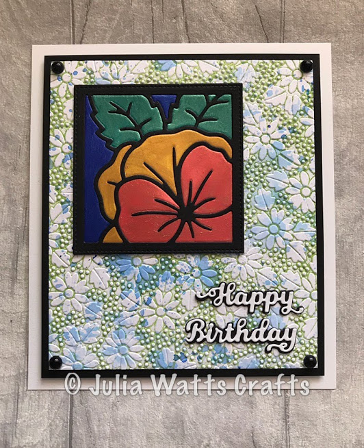 Pansy Flower Square Quilted