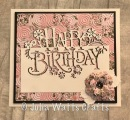 Paper Cuts Happy Birthday Pink Paradise Bargello
