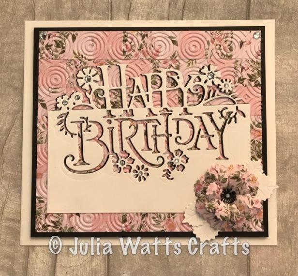 Paper Cuts Happy Birthday Pink Paradise Bargello