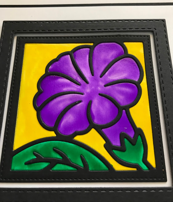 Petunia Flower Square Colourful Crystal Tints