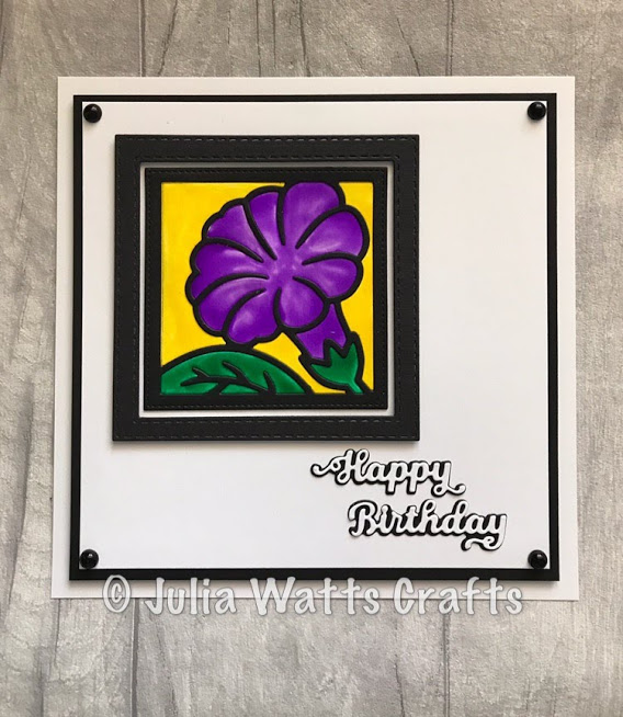 Petunia Flower Square Quilted