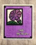 Petunia Flower Square Stained Glass