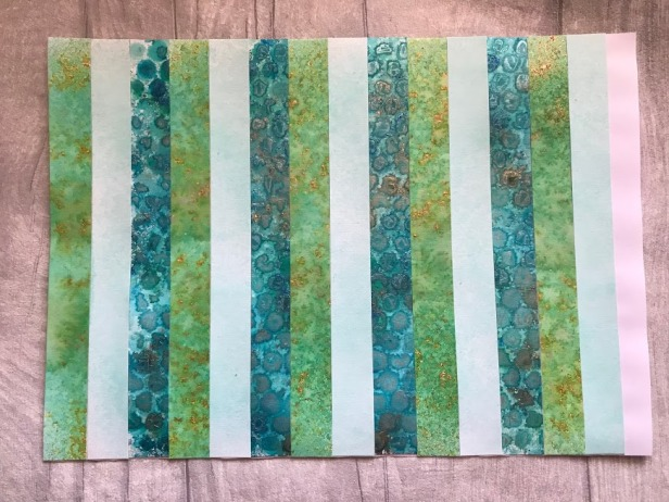 Strips for Bargello Background Pixie Powders Intense Pigment Stain