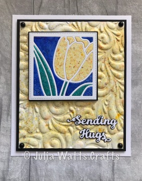 Tulip Flower Square Paper Pieced Pixie Powders
