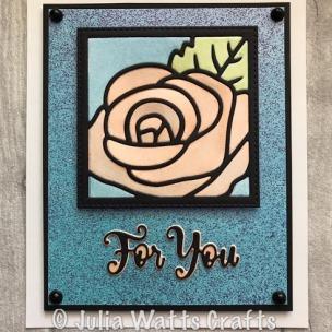 Rose Flower Square Opal Polishes