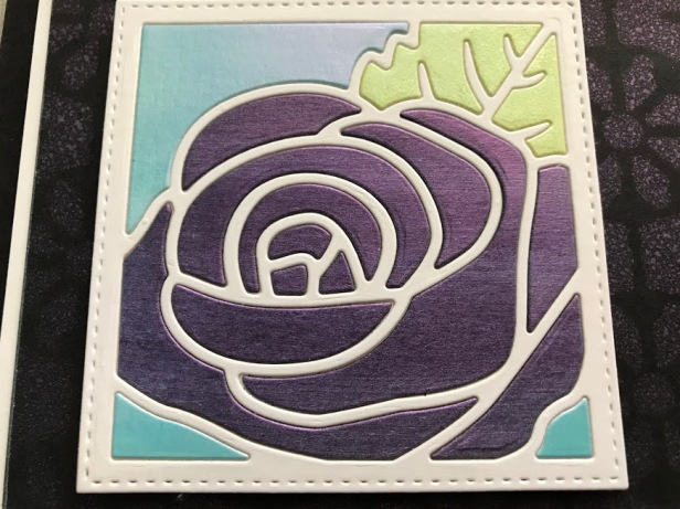 Rose Flower Square Opal Polishes Paper Pieced