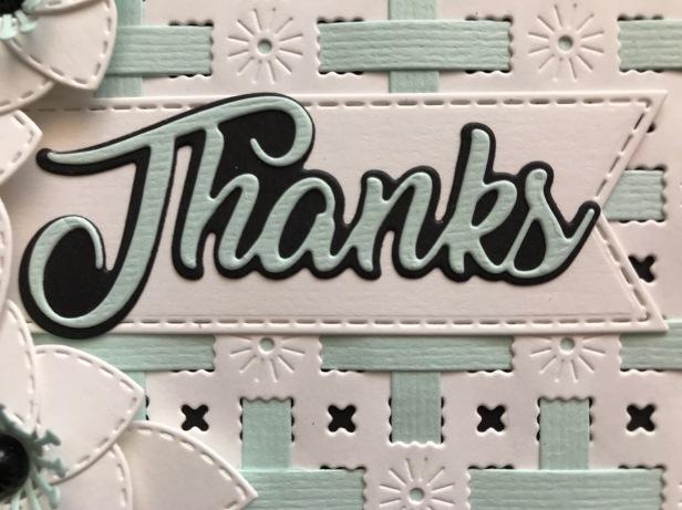 Diagonal Background Striped Weaving Die Seafoam Textured Card