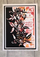Paper Cuts Clematis Edger Woodware Stamps Oxides