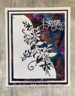 Paper Cuts Fuchsia Edger Alcohol Inks Caught in Crystal