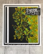 Paper Cuts Rambling Rose Edger Alcohol Inks Yupo Embroidered Elements