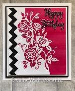 Paper Cuts Rambling Rose Edger Bubblegum Lustre Polish Zig Zag Border