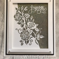 Rambling Rose Edger with Diamond Frost