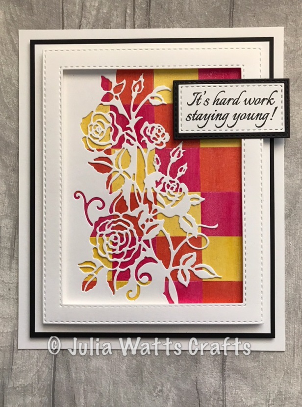 Paper Cuts Rambling Rose Edger Lustre Polishes Bargello