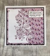 Paper Cuts Rambling Rose Edger Paper Boutique Springtime Blooms