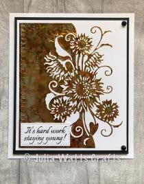 Paper Cuts Sunflower Edger Alcohol Inks Foil Sheet