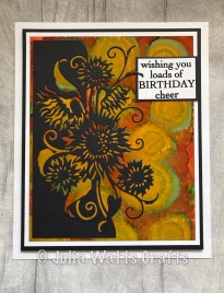 Paper Cuts Sunflower Edger Alcohol Inks Yupo