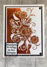Paper Cuts Sunflower Edger Foil Tape Alcohol Inks
