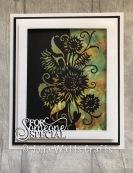 Paper Cuts Sunflower Edger Pixie Powders Cling Film