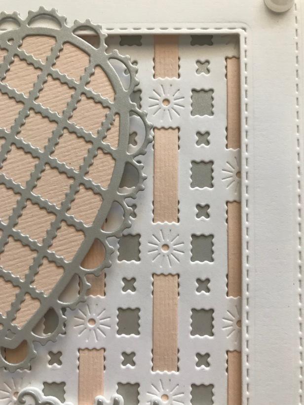 Filigree Artistry Diagonal Background Striped Weaving Die