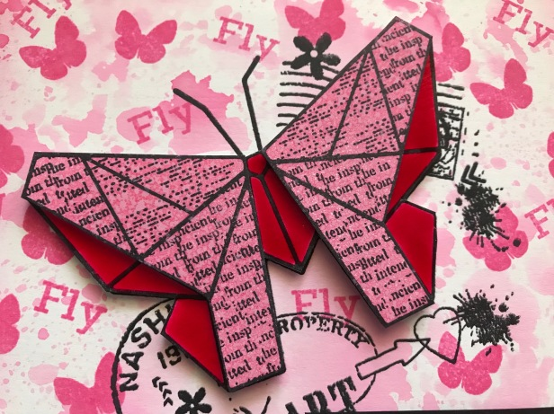 Paper Butterfly Picked Raspberry Oxide Crystal Tint