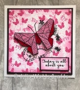 Woodware Paper Butterfly 2