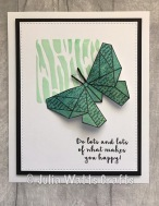 Woodware Paper Butterfly 3