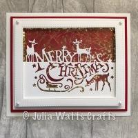 Merry Christmas Edger Shaker Card