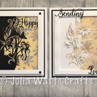 Fairy Edgers with a stamped Gilding Polish Background