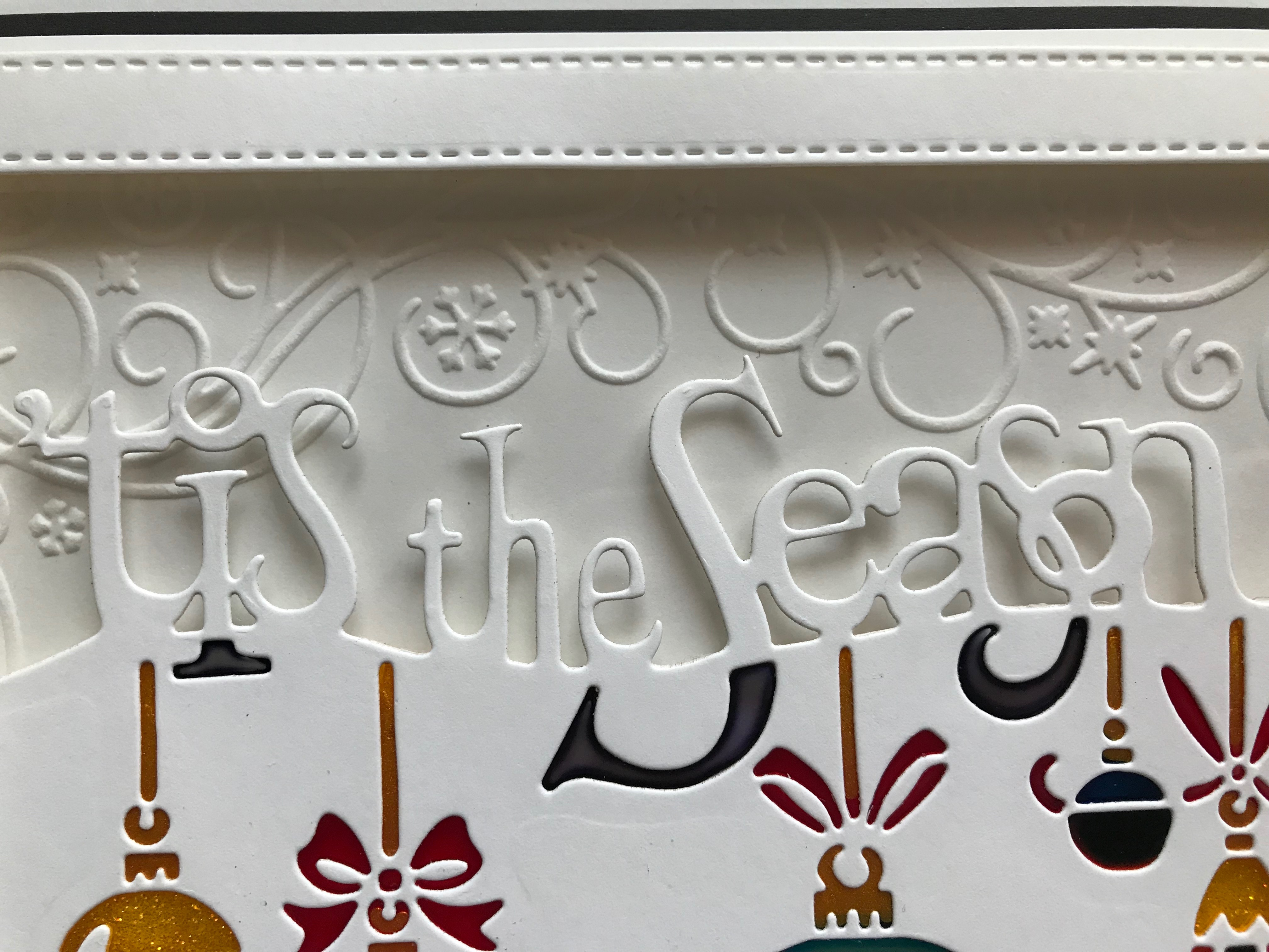 Wintery Frame Embossing Folder Tis the Season