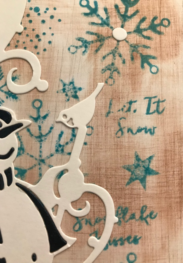 Faux Linen Snowflake Companions