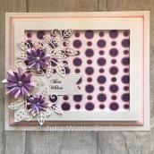 Circle Layering Stencils Purple & Pink Pastes